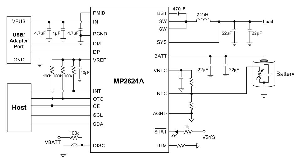4.5A, I2C-Controlled, Single-Cell Battery Charger