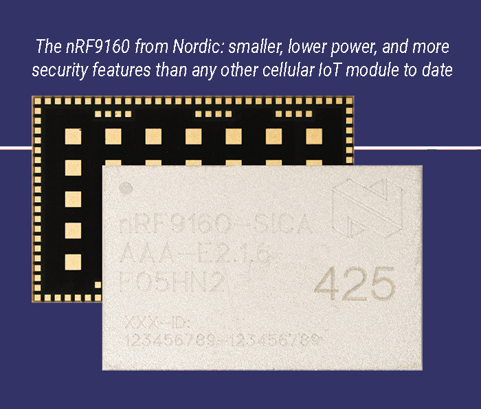 Nordic releases nRF9160 LTE-M and NB-IoT Module